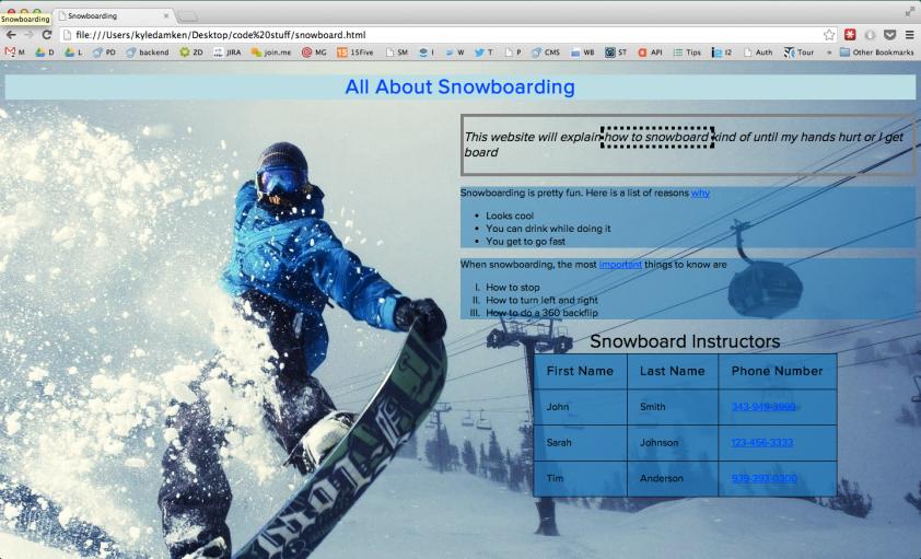 snowboard screenshot