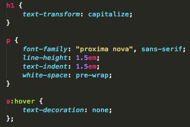 text properties