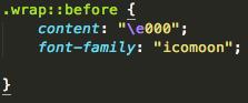 icon code