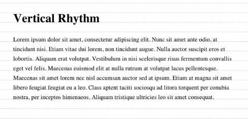 vert rhythm